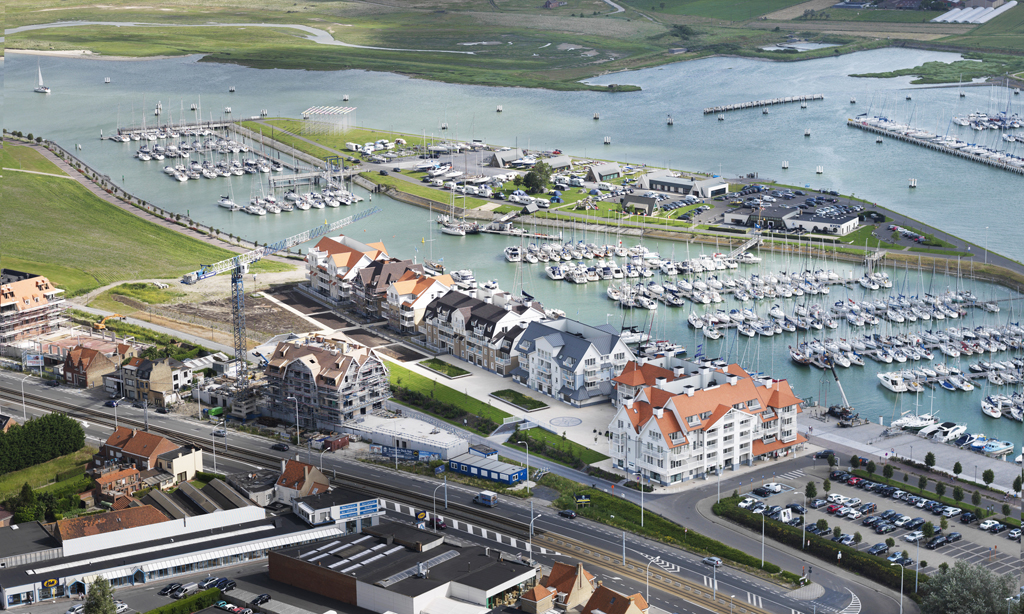Van Tornhaut - Storms Harbour : Project Harbourview - Bouwen van 4 residenties: Dock Side, Yacht Club, Boat House en Sun Deck - Nieuwpoort